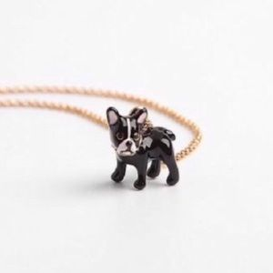 Kate Spade Crystal Enamel Boston Terrier Necklace